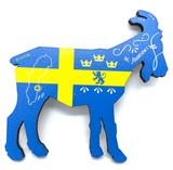 Al Johnson's Swedish Flag Goat Magnet