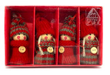 Boy and Girl Ornaments 4 pack