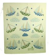 Swedish Sailboat Swedish Dishcloth