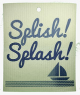 Splish! Splash! Sailboat Swedish Dishcloth