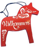 Grannas Dala Horse Vålkommen sign