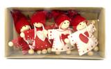 Heart Girl 4 pc Ornament Set
