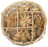 Swedish Straw Ornaments 30 pc