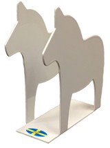 White Dala Horse Napkin Holder