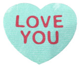 """Love You"" Heart Swedish Dishcloth"