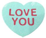 """Love You"" Heart Swedish Dishcloth"