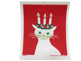 Lucia Cat Swedish Dishcloth