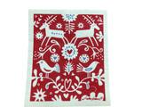Winter Bird & Reindeer Swedish Dishcloth