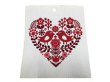 Love Birds Swedish Dishcloth