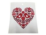 Hearts & Love Birds Swedish Dishcloth