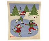 Winter Skating Swedish Dishcloth