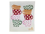 Colorful Cups Swedish Dishcloth