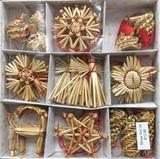 34 piece Swedish Straw Ornaments