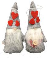 Heart Tomten Couple Ornaments