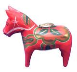 Red Dalahorse Ornament