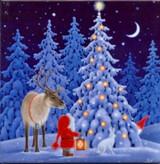 Reindeer, Santa, and Tomten Tile