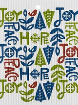 Joy, Hope, & Peace Swedish Dishcloth