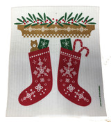Christmas Stocking Dishcloth