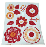 Orange Flower Swedish Dishcloth
