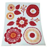 Orange Flower Swedish Dishcloth