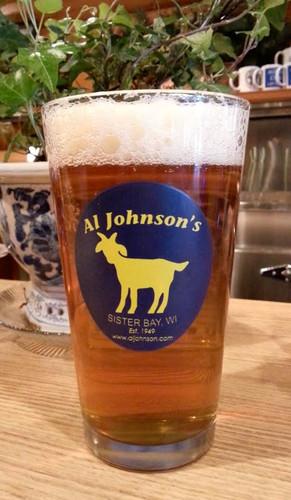 Al's Goat Logo pint glass