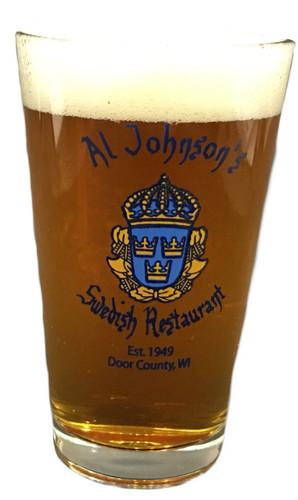 Al Johnson's Three Crowns Pint Glass