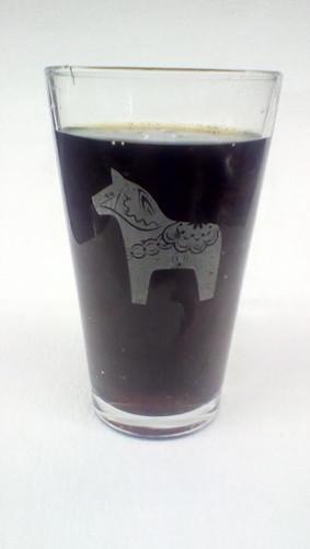 Dala Horse Pint Glass