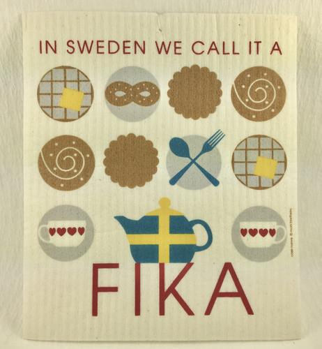 Fika Swedish Dishcloth