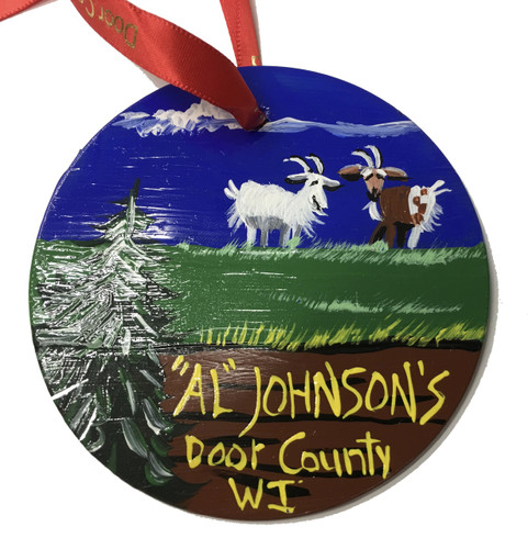 Al Johnson's Roof Goat Ornament