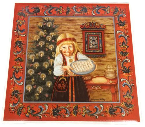 Lefse Girl Tile