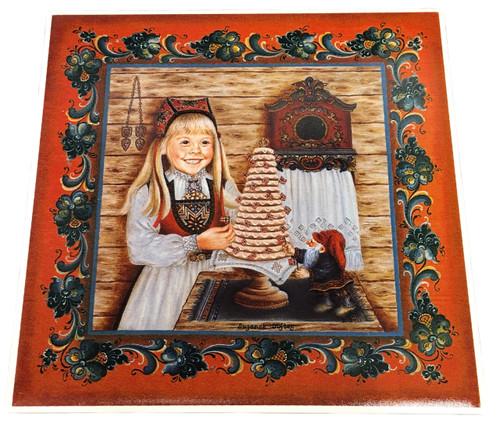 The Kransekake Girl Tile
