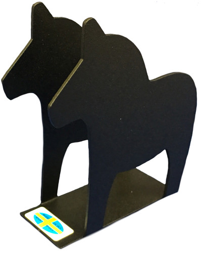 Black Dala Horse Napkin Holder