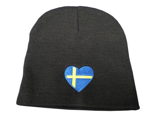 Swedish Heart Flag Beanie