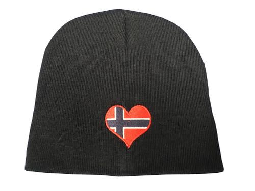 Norwegian Heart Flag Beanie