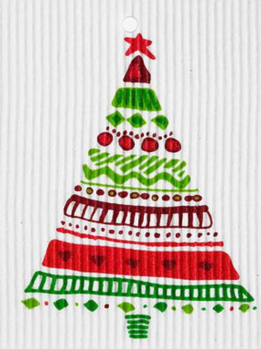 Christmas Tree Swedish Dishcloth