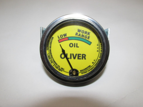Oil Pressure Gauge (USA) Yellow Faced