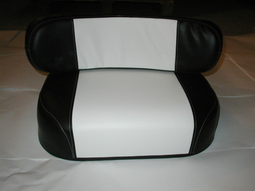 Black and White 2 piece Seat Cushion