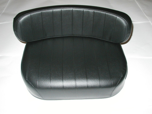 2 Piece Black Embossed Seat Cushion
