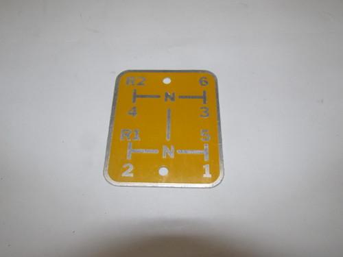 Gear Shift Plate (Fleetline)