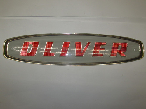 Red Lettered Front Oval