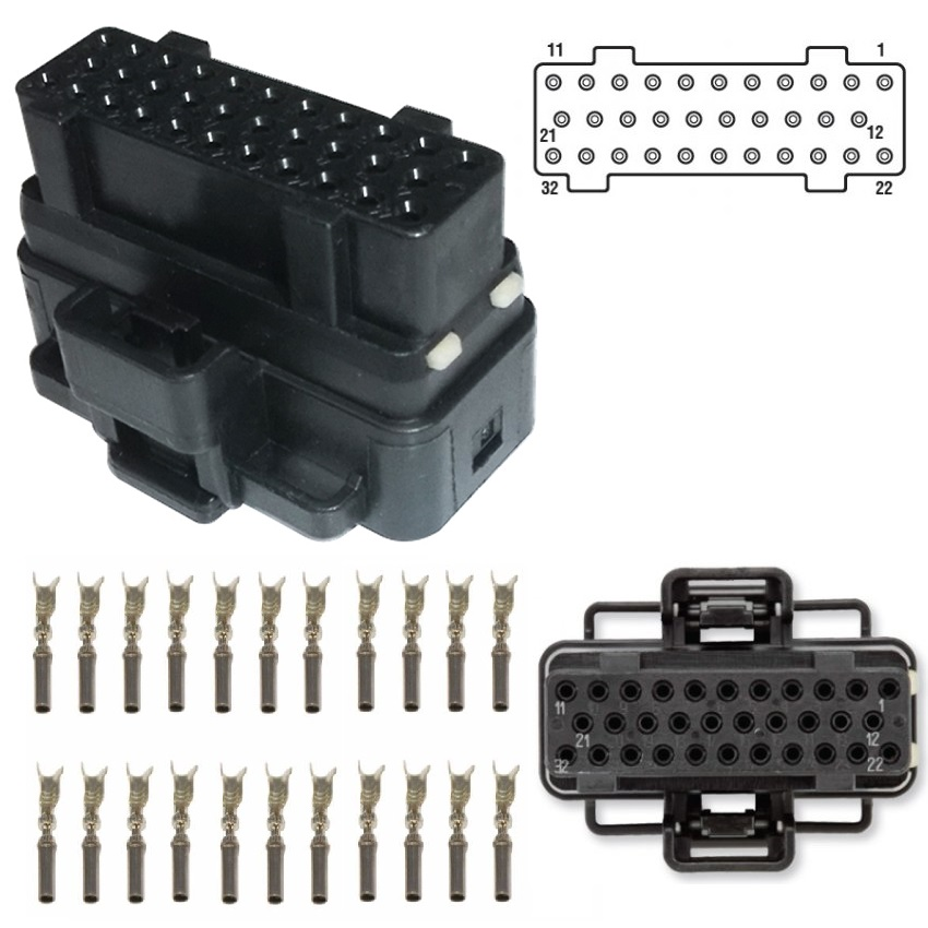 Connector for Ford PowerStroke 2003-2007 6.0L F Series /& Excursion 2004-2010 6.0L E Series 2006-2010 4.5L LCF FICM Fuel Injection Control Module