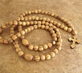 Prayer Rope - 100 Olive Wood Beads, 10mm