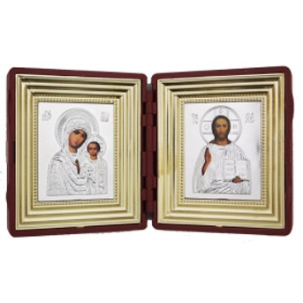 Virgin of Kazan & Christ Traveling Icon Set