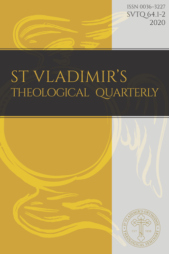 St Vladimir's Theological Quarterly, Volume 64, Numbers 1-2 (2020)