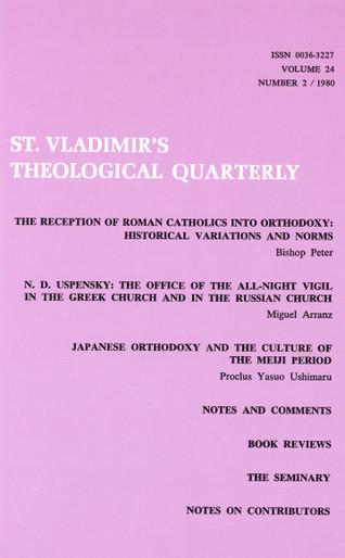 St Vladimir's Theological Quarterly, vol. 24, no. 2 (1980)