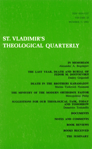 St Vladimir's Theological Quarterly, vol. 25, no. 3 (1981)