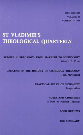 St Vladimir's Theological Quarterly, vol. 27, no. 1 (1983)