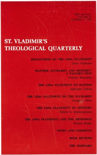 St Vladimir's Theological Quarterly, vol. 27, no. 4 (1983)