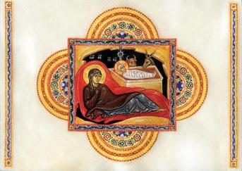 PK-C14 Illuminated Nativity Greeting Cards: Nativity of Christ