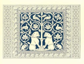 PK-B7 Byzantine Motif Note Cards: Lions